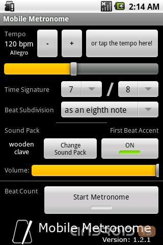 Скачать Mobile Metronome, Программы на Android, скачать Программы на